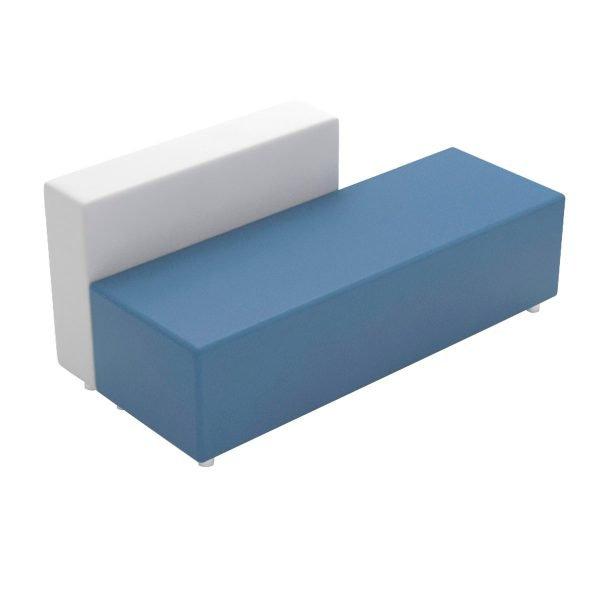 Puff Complete Sofa con respaldo blanco
