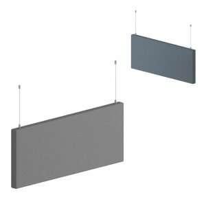 Paneles fonoabsorbentes suspendidos de techo