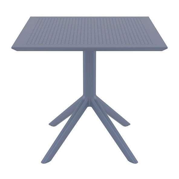 Mesa para restaurante de exterior gris