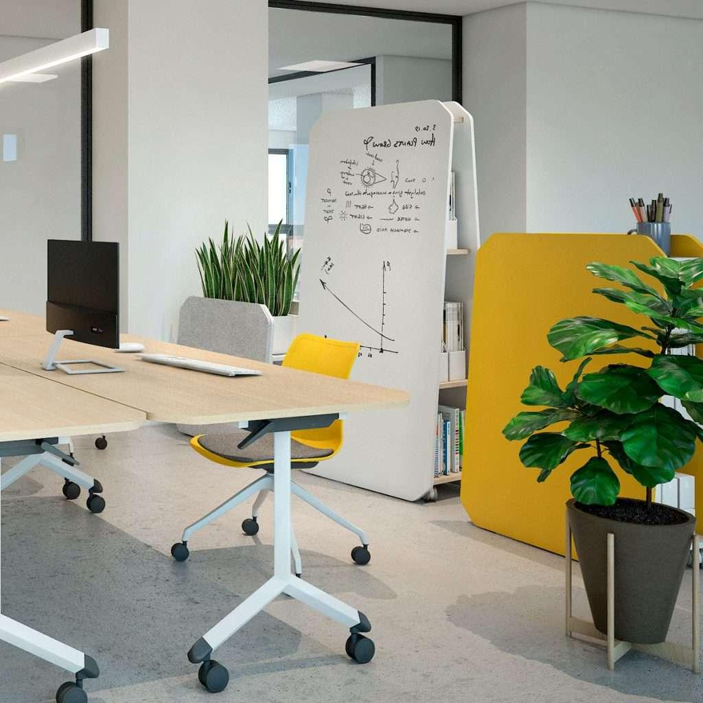 Mamparas separadoras de oficina