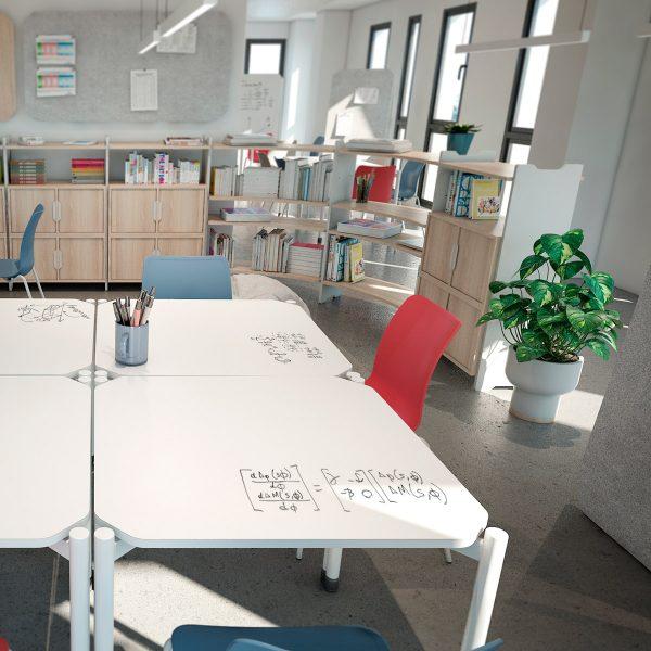 Mesas con superficie de pizarra para rotulador Velleda