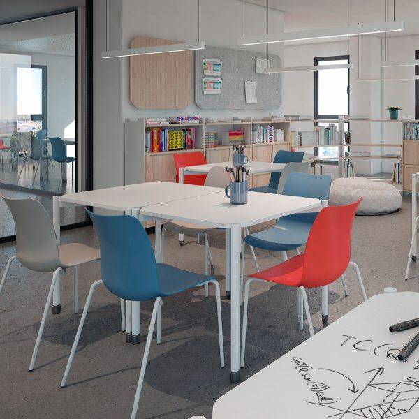 Mobiliario para bibliotecas y salas de formación