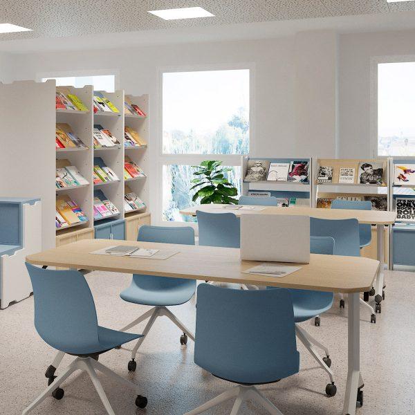 Mobiliario Vintiquatre para bibliotecas