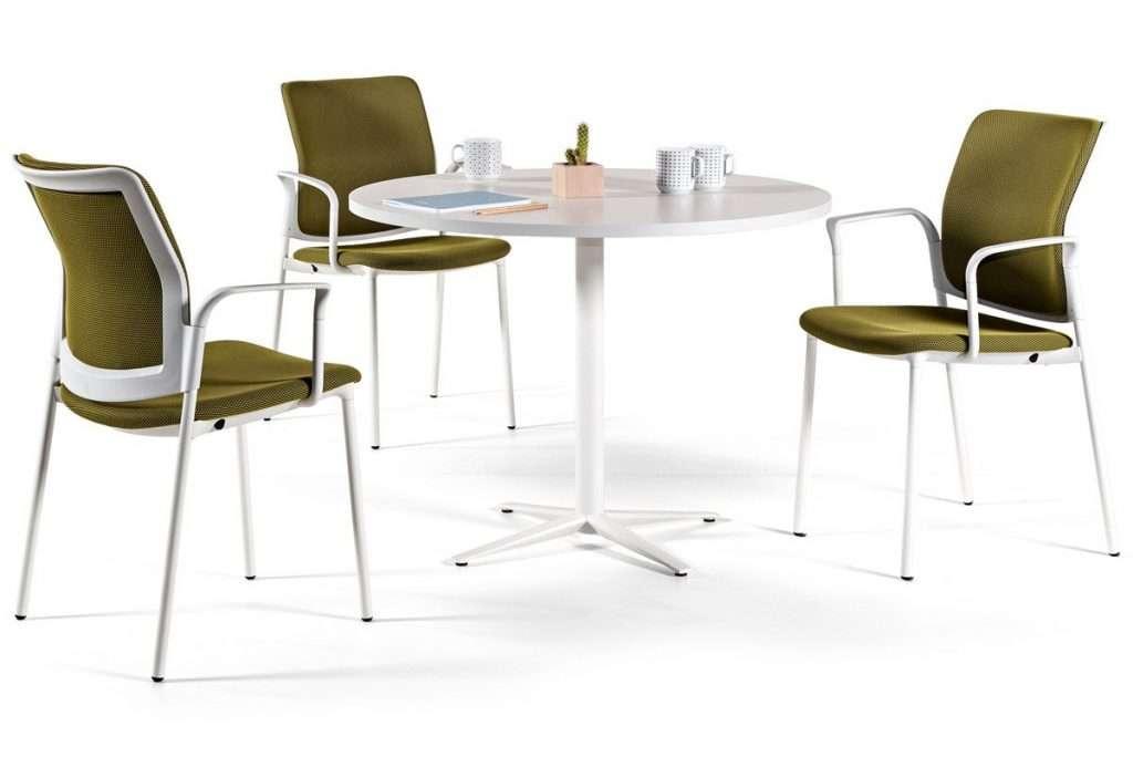 Mesa de reuniones redonda con pie central