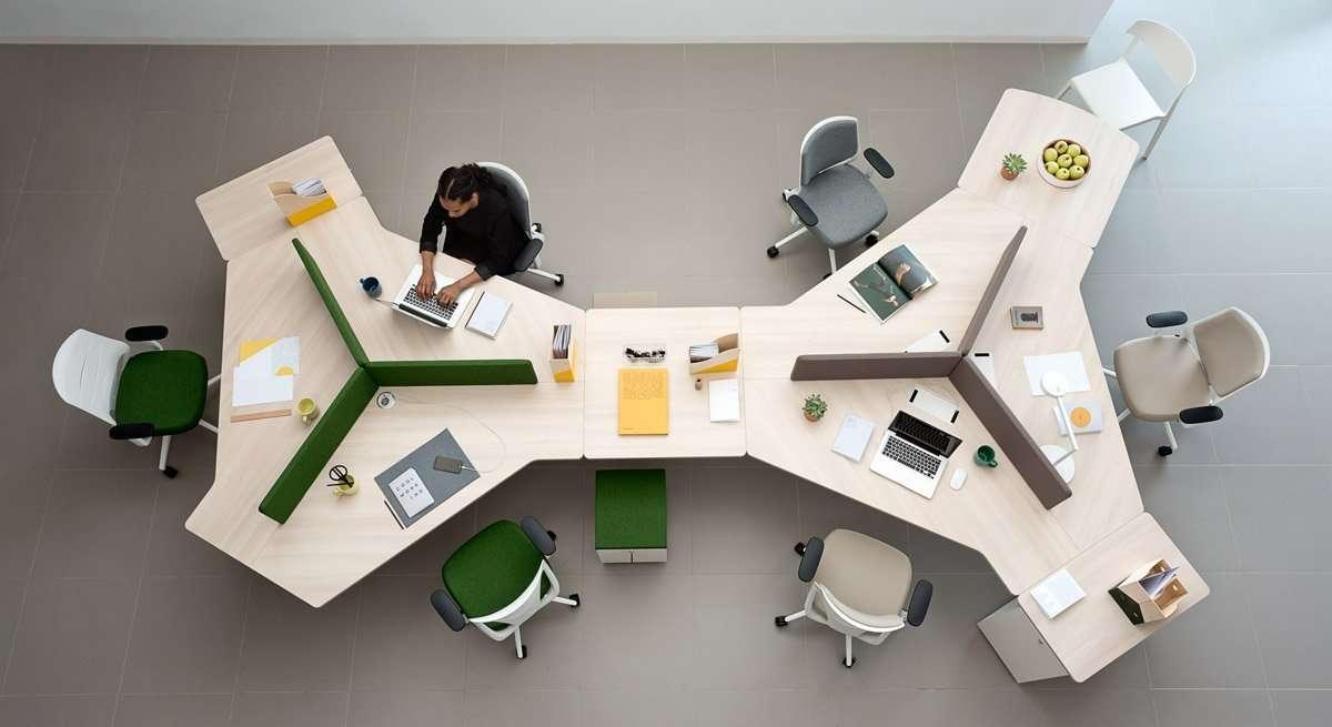 mesa de oficina para espacio coworking