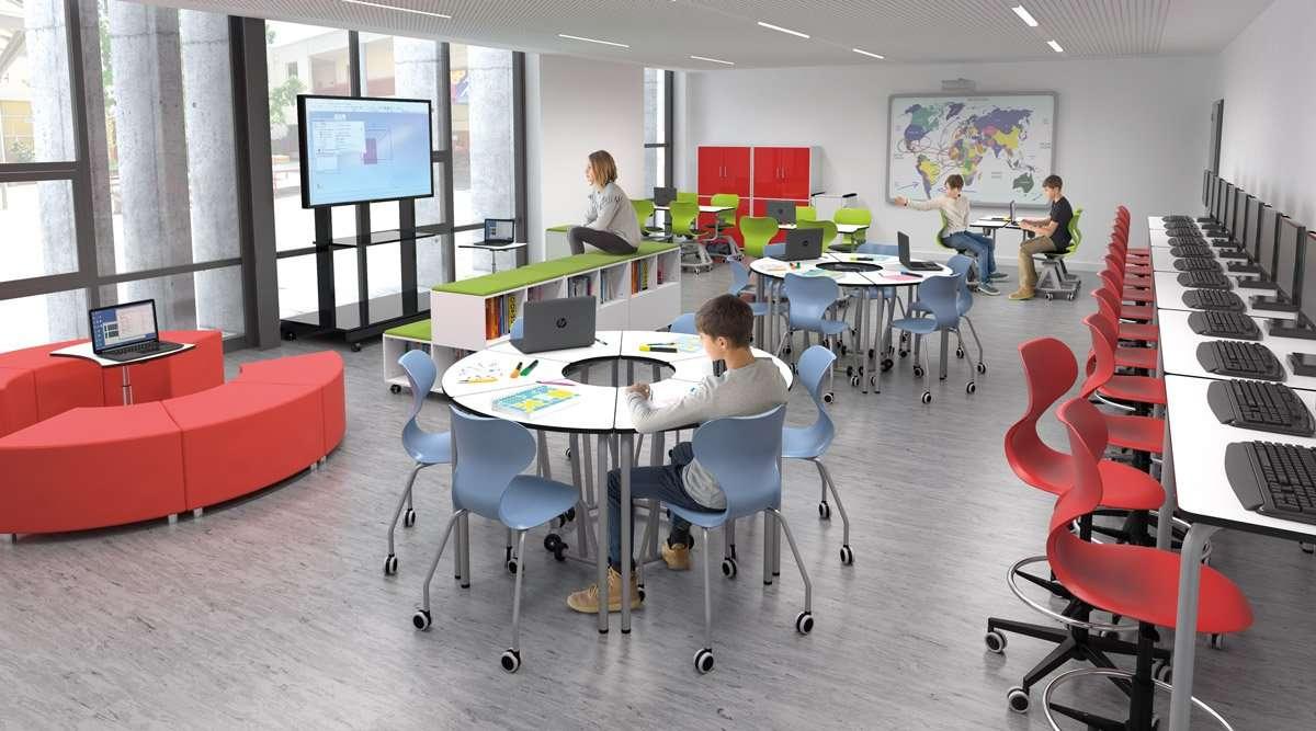 Mobiliario para aula de informática
