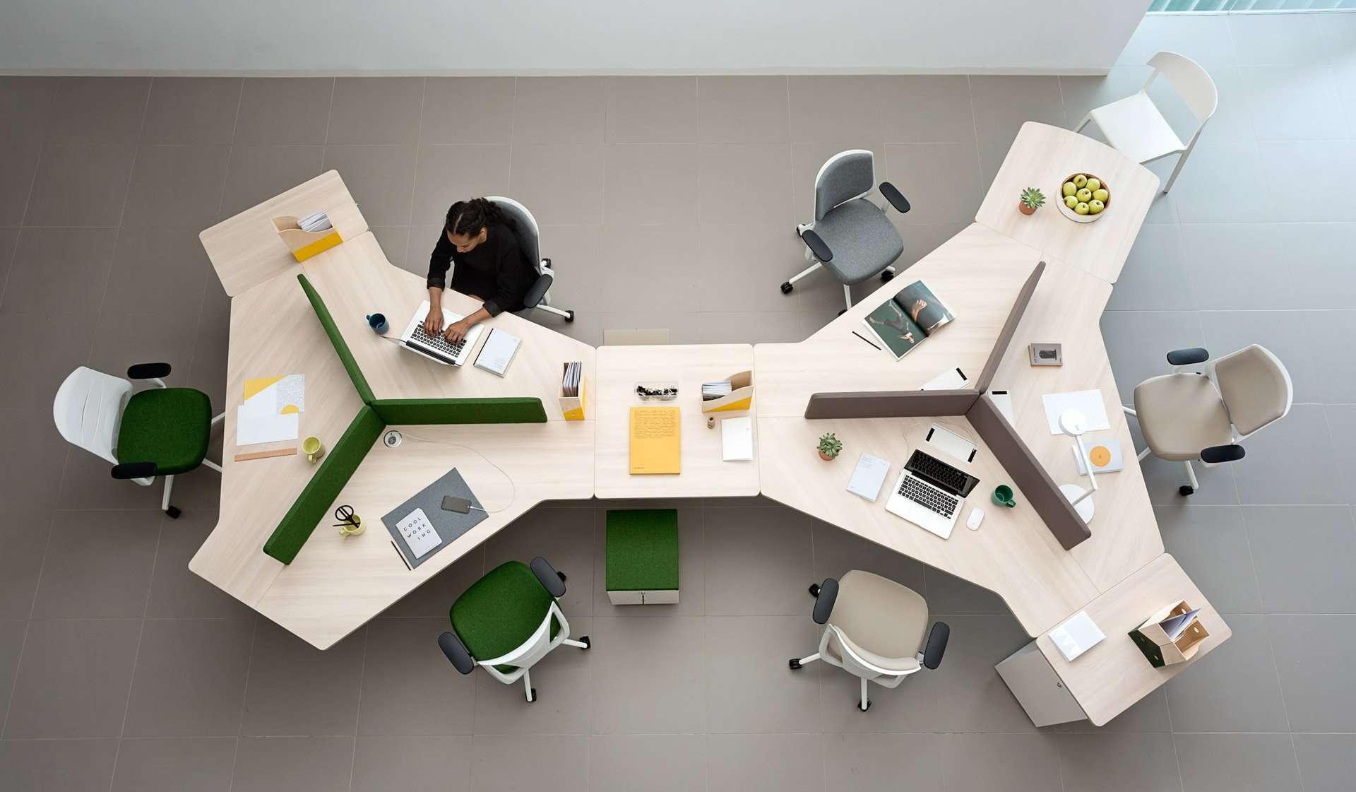 Mobiliario de oficina para coworking