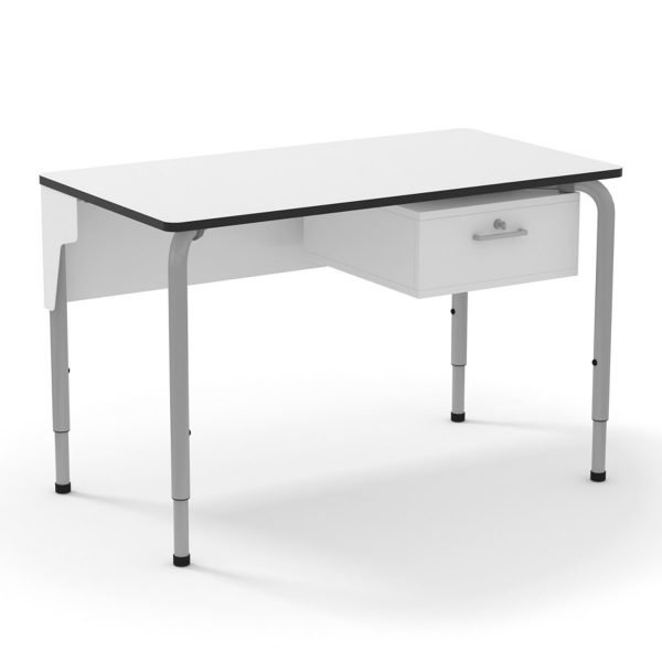 Mesa profesor Rectangle blanca 120 x 65 cm.