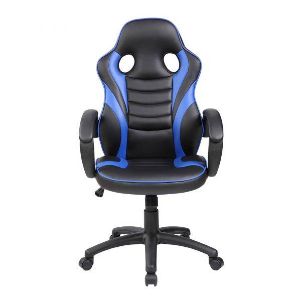 Silla de gaming azul